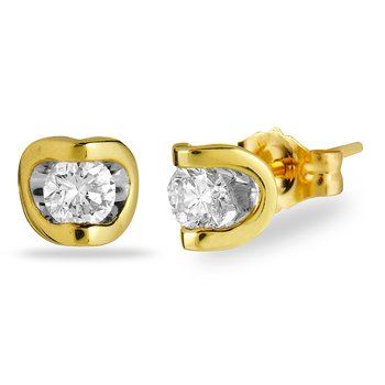 14K YG Diamond 'Deep Love' Earring