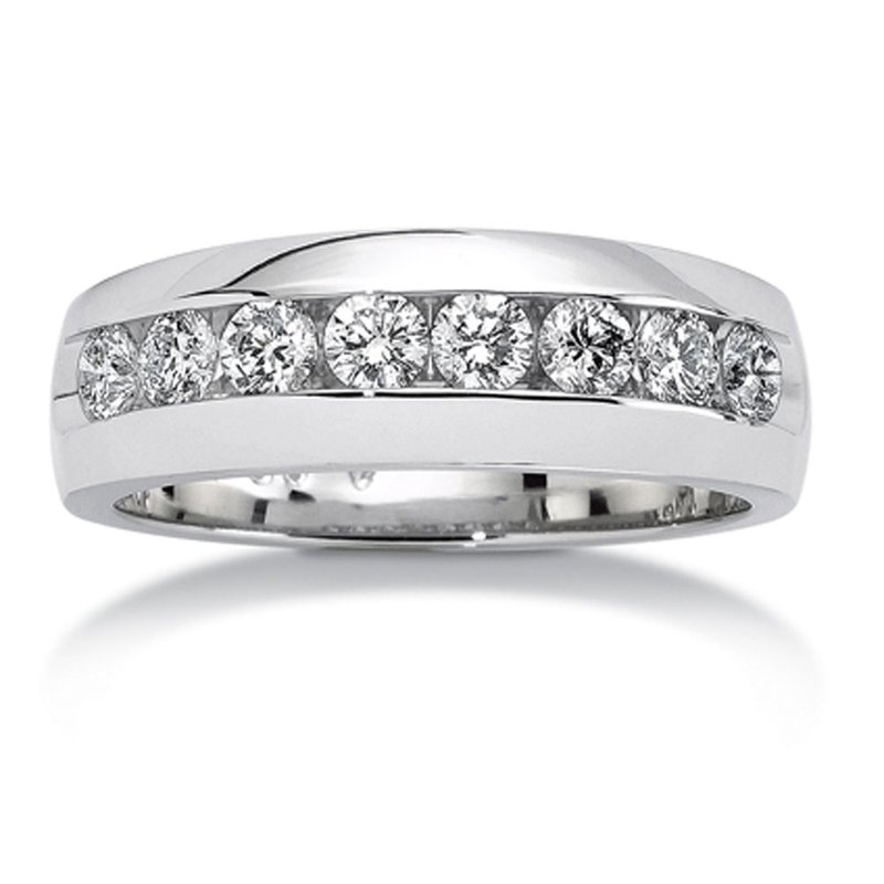 SDC Creations Channel set Diamond Men's 14k White Gold Band (1/4 ct. tw.)
