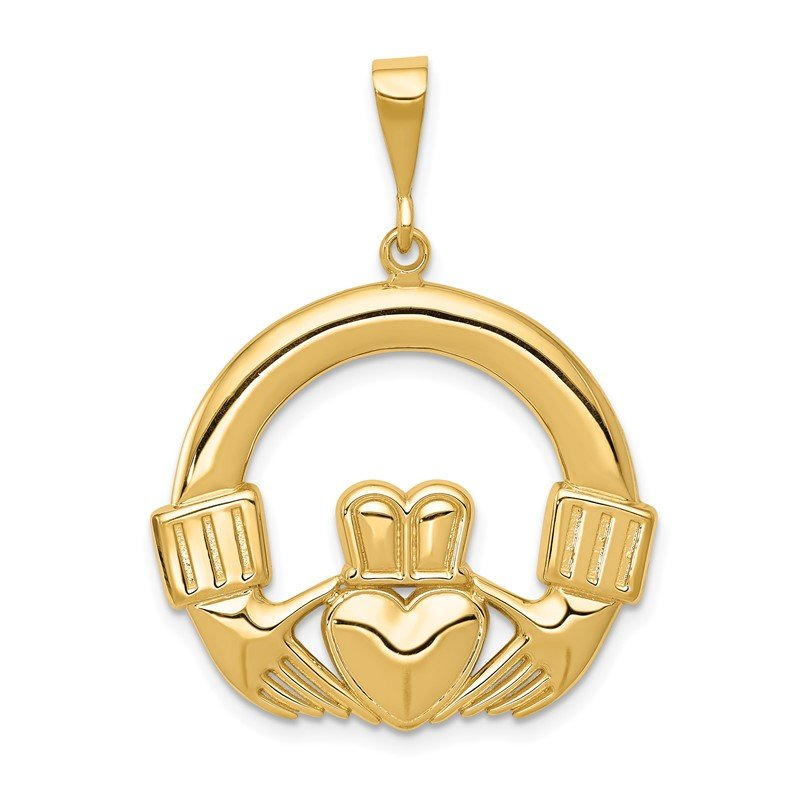 Quality Gold 14k Claddagh Pendant