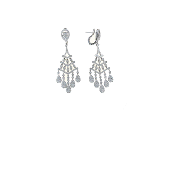 18Kt Gold Diamond Chandelier Earrings