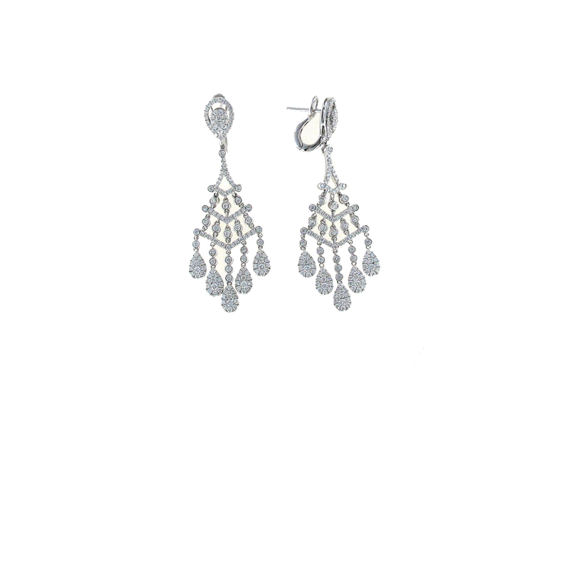 Roberto Coin 18KT GOLD DIAMOND CHANDELIER EARRINGS