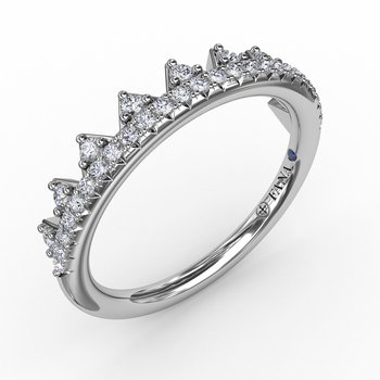 Tiara Style Diamond Band