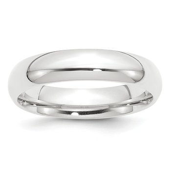 Platinum 5mm Comfort-Fit Wedding Band