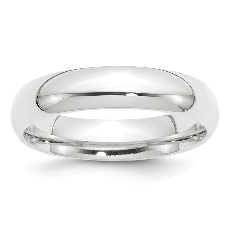 Quality Gold Platinum 5mm Comfort-Fit Wedding Band