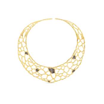18KT GOLD COLLAR WITH BROWN DIAMONDS