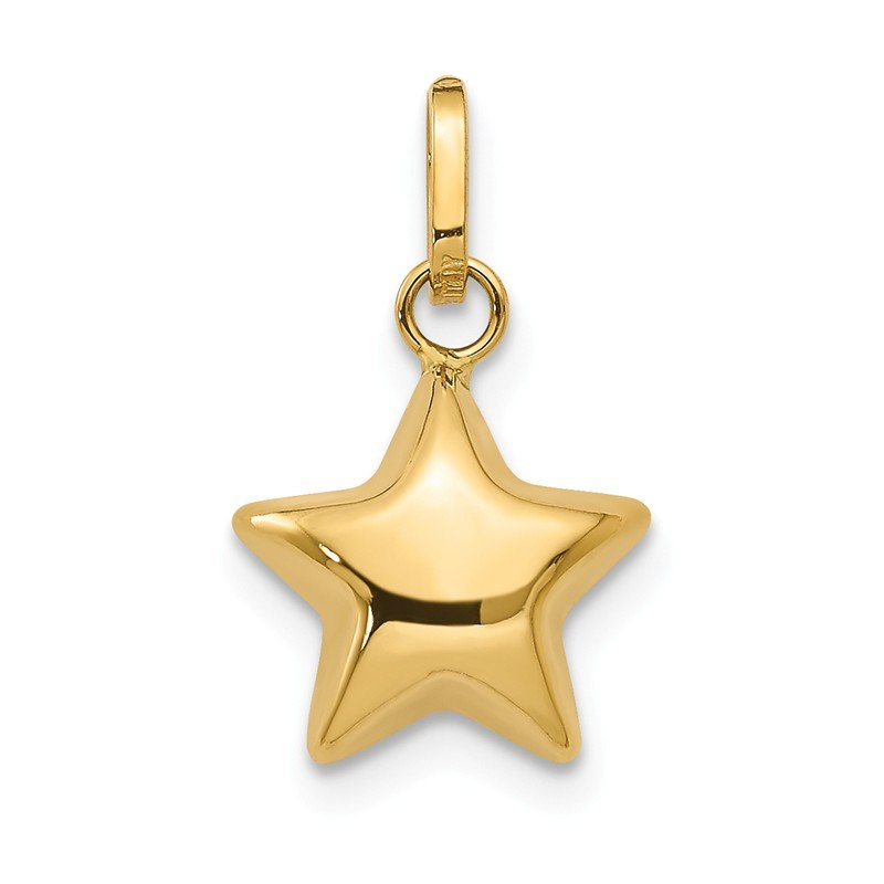 Quality Gold 14k 3D Puffed Star Charm