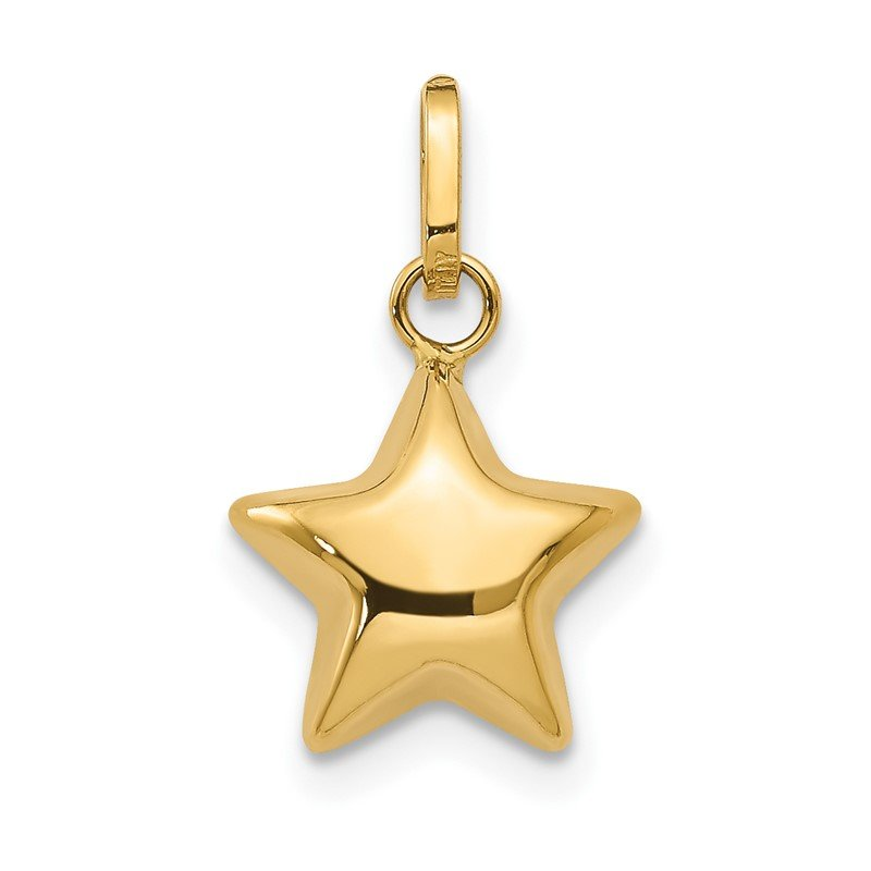 Fine Jewelry by JBD 14k 3D Puffed Star Charm