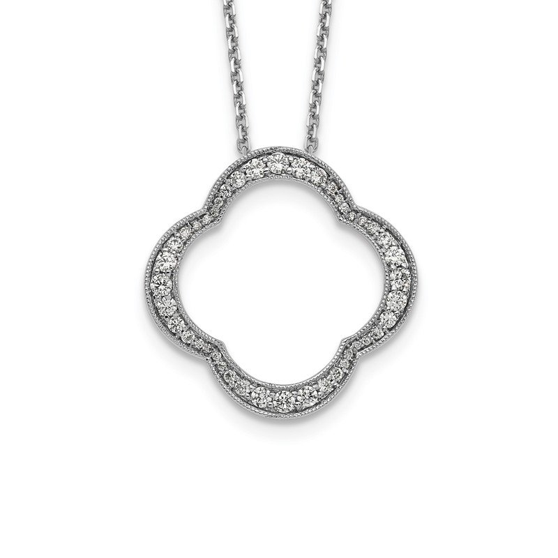 True Origin 14kw True Origin Lab Grown Dia VS/SI D,E,F Quatrefoil Pendant w/ Chain
