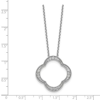 14kw True Origin Lab Grown Dia VS/SI D,E,F Quatrefoil Pendant w/ Chain