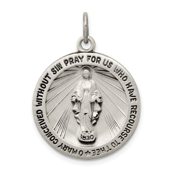 Sterling Silver Antiqued Miraculous Medal