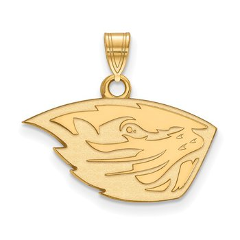 Gold-Plated Sterling Silver Oregon State University NCAA Pendant