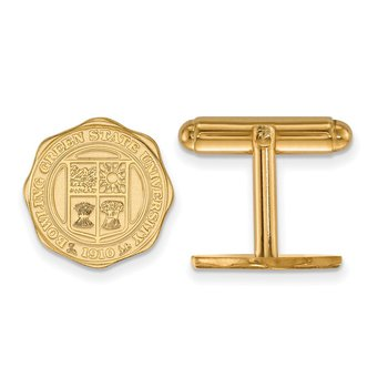 Gold-Plated Sterling Silver Bowling Green State University NCAA Cuff Links