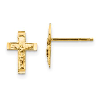 14k Madi K Crucifix Post Earrings