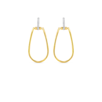 #23086 Of 18Kt Gold Earrings With Diamonds