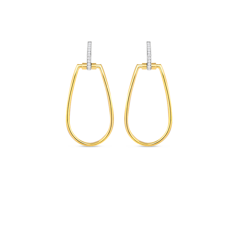 Roberto Coin  #23086 Of 18Kt Gold Earrings With Diamonds