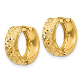 14k 5mm Hinged Hoop Earrings