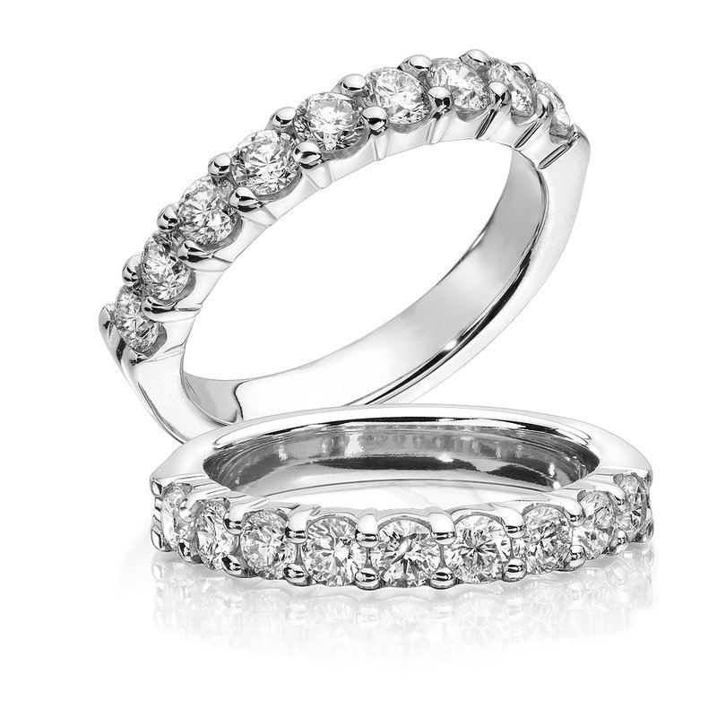 SDC Creations Prong set Round Diamond Wedding Band 14k White Gold (1ct. tw.)