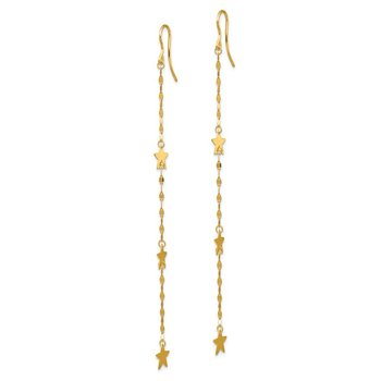 14K Star Dangle Earrings