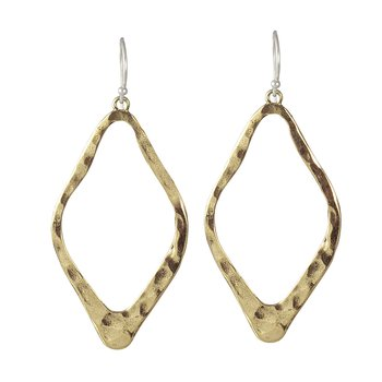 Open Up Earrings - Br - Diamond