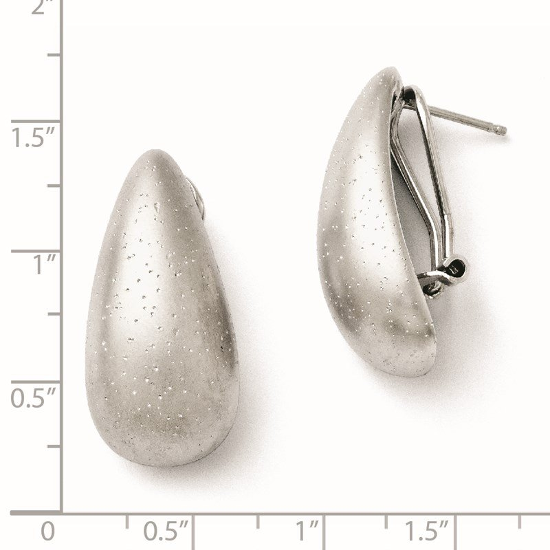 Leslie's Leslie's SS Rhodium-plated Radiant Essence Omega-back Earrings