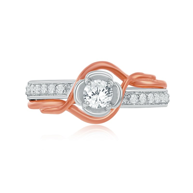 Veer Diamonds ENTWINE ROSE RING