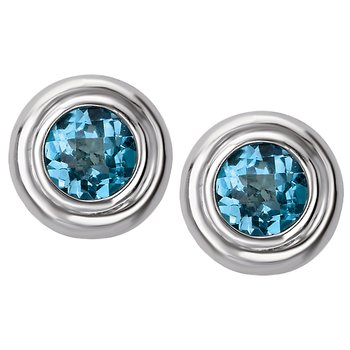 Ladies Gemstone Stud Earrings