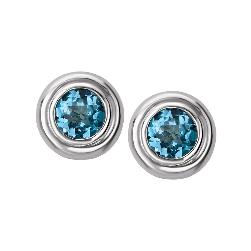 Eleganza Ladies Gemstone Stud Earrings
