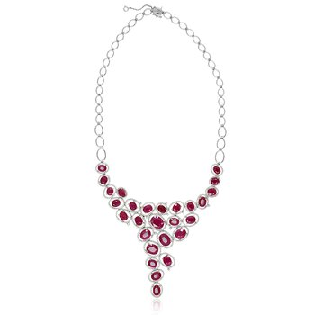 Layered Ruby & Diamond Necklace