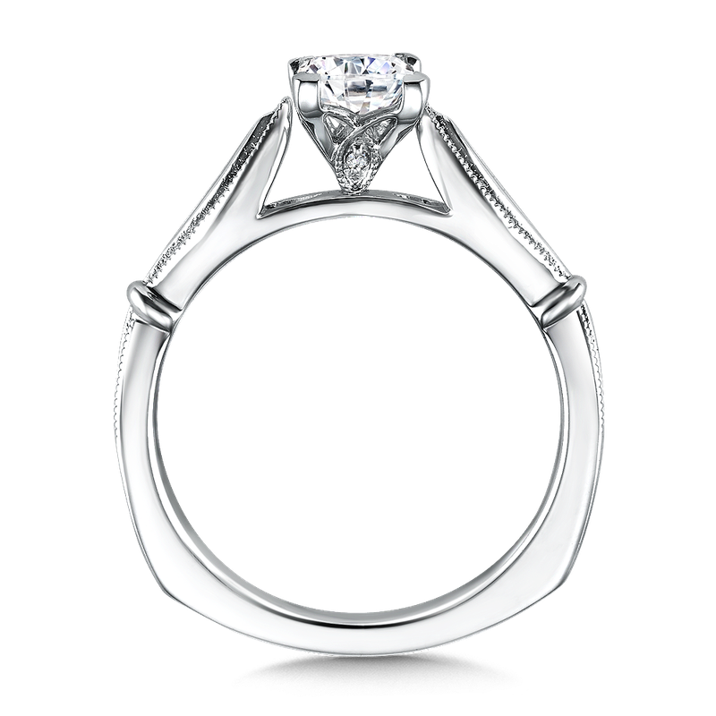 Valina Solitaire mounting .01 tw., 5/8 ct. Princess cut center.