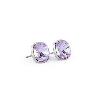 316L stainless steel and violet Swarovski® Elements.