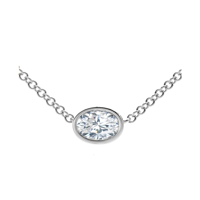 Forevermark Black Label The Forevermark Tribute™ Collection Oval Diamond Necklace