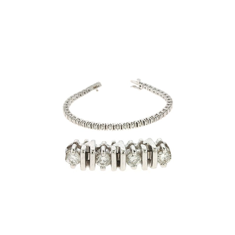 S. Kashi  & Sons White Gold Tennis Bracelet