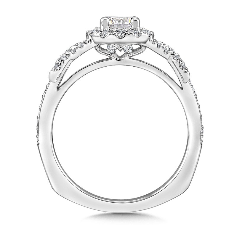 Valina Halo Engagement Ring Mounting in 14K White Gold (.35 ct. tw.)