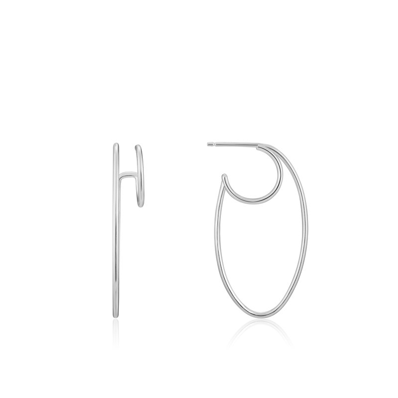 Ania Haie OVAL DOUBLE HOOP EARRINGS