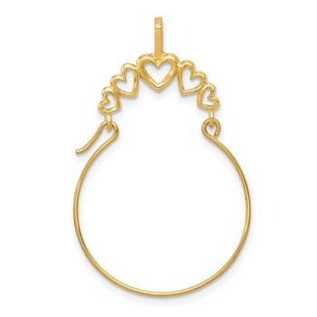14k Polished 5-Heart Charm Holder