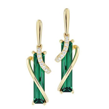 Emerald Earrings-CE4390YEM
