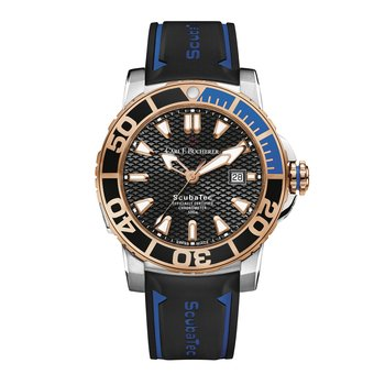 Patravi ScubaTec 45mm Stainless 18KRG Mens Watch