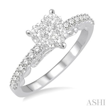 heart shape lovebright bridal diamond engagement ring