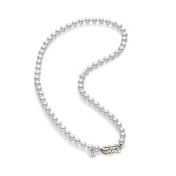 Strand Necklace - White Gold Clasp