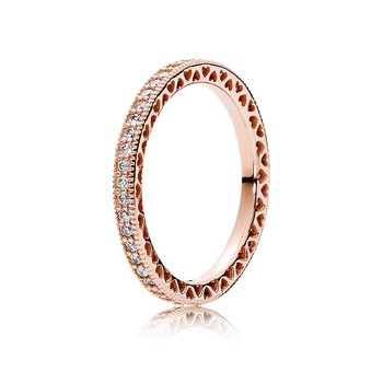 Hearts Of Pandora Ring, Pandora Rose™ Clear Cz