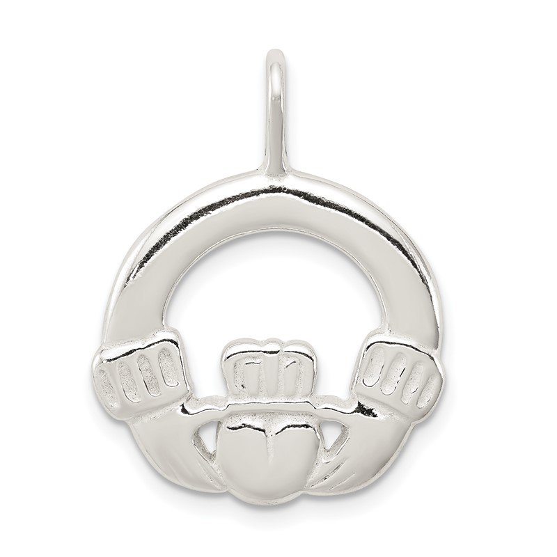 Quality Gold Sterling Silver Claddagh Charm