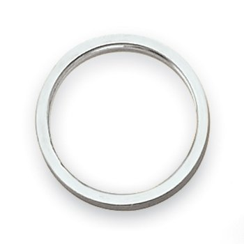 14k White Gold 2mm Flat Satin Band