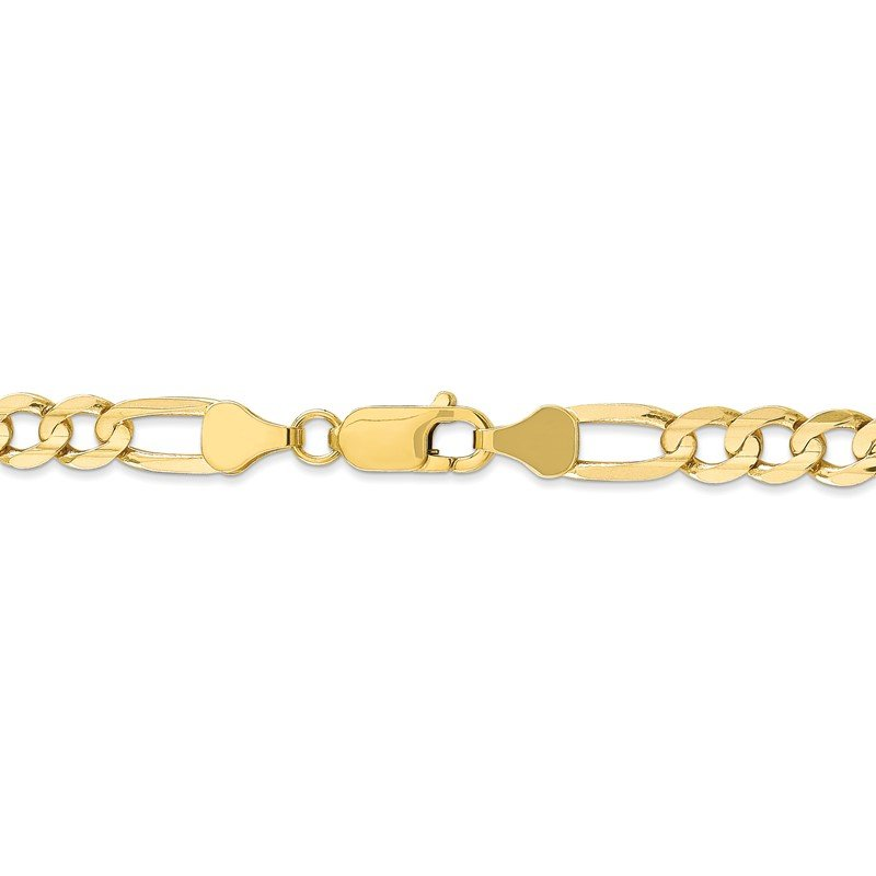 Quality Gold 10k 6mm Light Concave Figaro Chain