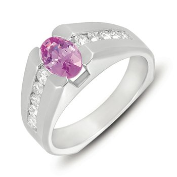Pink Sapphire./dia Ring