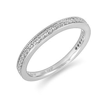 14K WG Diamond Wedding Band in Pave Setting
