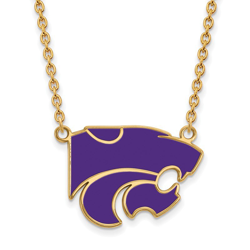 NCAA Gold-Plated Sterling Silver Kansas State University NCAA Necklace