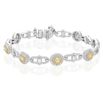 Ornate Two Tone Diamond Bracelet