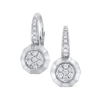14K Diamond Fashion Earrins