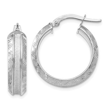 Leslie's 14k White Gold Hoop Earrings