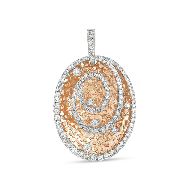 S. Kashi  & Sons White & Rose Gold Pendant